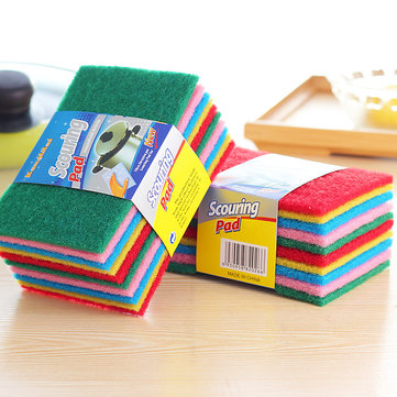KCASA KC-CS15 10Pcs Dish Pan Washing Cleaning Sponge Brush Scrubber Dishcloth Cleaner Tool