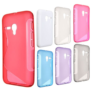 Slim Soft TPU Case Cover For Vodafone Smart first 6 VF685 Alcatel Pixi 3(4.0)