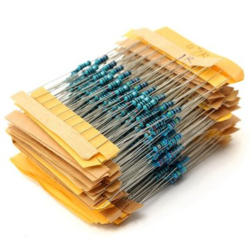 500pcs 50 Value 1/4W 0.25W 1% Metal Film Resistor Assortment Kit