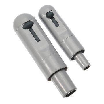 2pcs Grey Universal HVE Level Valve Strong Weak Spin Sucker Suction Handle Dental Tools