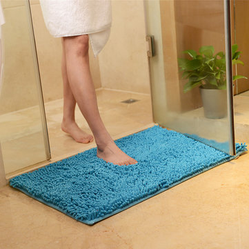 Honana WX-329 50x80cm Chenille Soft Mat Machine Washable Bathroom Anti Slip Absorbent Carpet Doormat Rug