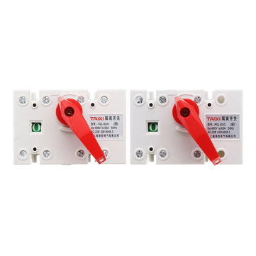 TAIXI® HGL-63 63A 3P/4P Household Circuit Breaker Isolate DIN Rail Isolating Switch