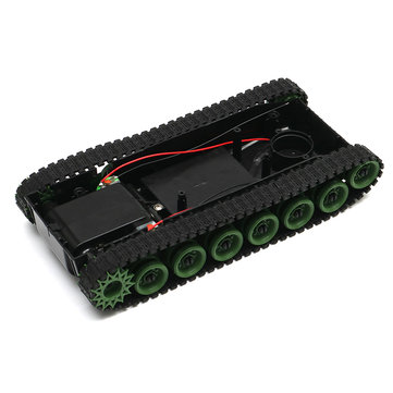 3-8V DIY Shock Absorbed Smart Robot Tank Chassis Car With 130 Motor For Arduino