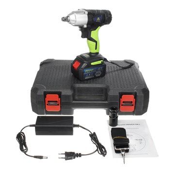 8.0Ah 68V Cordless Impact Wrench Li-ion Power Driver Drill Power Wrench Tools 1 Charger 1 Batteries