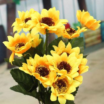 29cm fake silk artificial 13 heads sunflower flower bouquet 29cm fake silk artificial 13 heads sunflower flower bouquet simulation floral garden home decor mightylinksfo