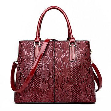 Women PU Patent Leather Elegant Handbag Shoulder Bag