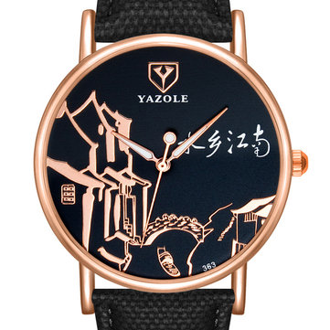 YAZOLE 363 Chinese Style Women Wrist Watch Retro Luminous Hand Quartz Watch