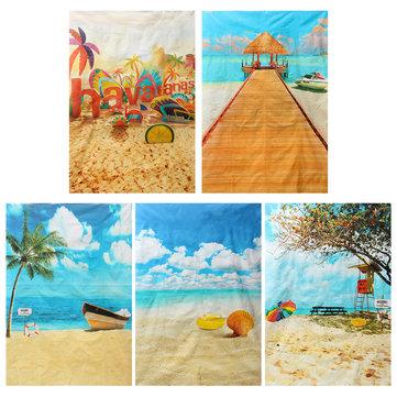5x7ft Summer Sunshine Beach Vocation Sea Photography Backdrop Studio Prop Background