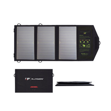 ALLPOWERS 5V 21W Portable Solar Charger Sun Power Solar Panel Power Bank Charger for Smartphone