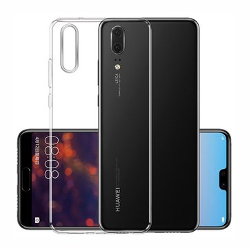 Bakeey Ultra Thin Anti-Slip Transparent Hard Plastic PC Protective Cover Case for Huawei P20