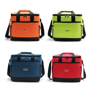 Insulated Cooler Handbag Waterproof Outdoor Picnic Lunch Bag Storage Carry Case
