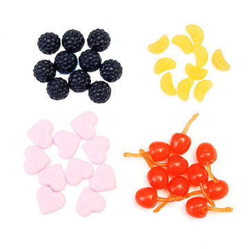 Food Accessories Orange Strawberry Ultralight Clay Resin Soil Clay Soil DIY Accessories