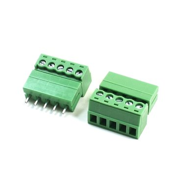 5pin Terminal Plug Type 300V 5.08mm Pitch Connector Screw Terminal Block