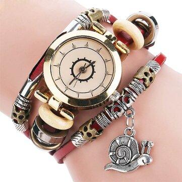 Original Residential Style Retro Ladies Dress Diamond Dial Leather Strap Women Quartz Watch