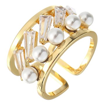 JASSY® Women's Luxury Zircon Opening Rings 18K Gold Plated