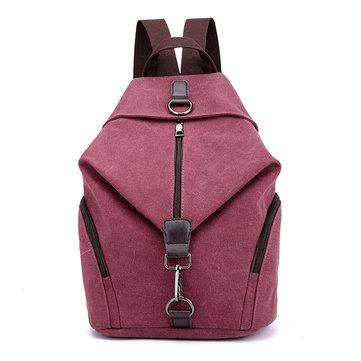 KVKY Women Canvas Backpack Large Capacity Minimalist Fashion Travel Bag School Bag