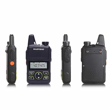 BF-T1 Frequency 400-470MHz 20 Channels Mini Ultra Thin Driving Hotel Civilian Walkie Talkie Intercom