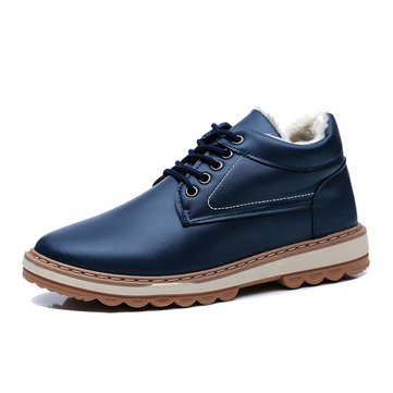 Men Plush Lining Ankle Boots