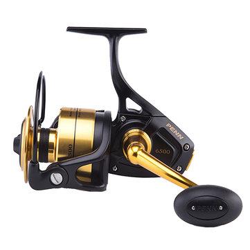 PENN SSV 6.2:1 5+1 Metal Spinning Fishing Wheel L/R Handle Max 15kg Saltwater Fishing Reel