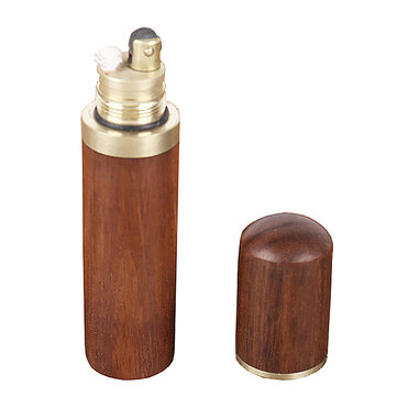 ZORRO Z542-002 Rosewood Mini EDC Kerosene Lighter Vintage Refillable Retro Cigarettes Lighter