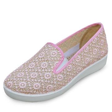 Мы размер 5-11 летние женщины удобные дышащие квартиры мягкие случайные круглый носок на открытом воздухе плоские туфли