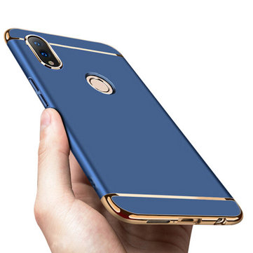 Bakeey Ultra-mince 3 en 1 Plating Frame Splicing PC Housse de protection dure pour Huawei Honor 8X