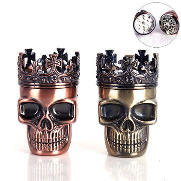 Honana NB-CR010 Skull Four Piece Tobacco Herb Grinder Metal Spice Crusher Alloy Pollen Catcher