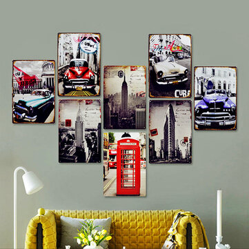 1pc 20 x 30 CM Vintage Cool Wall Decor Metal Painting Wall Hangings Retro Bars Cafe Home Decoration Wall Stickers