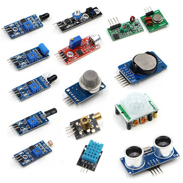 ラズベリーパイゼロワンセンサーキットモジュールキット用16PCS /セット超音波フォトレジスト