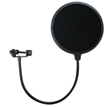 Double Layer Studio Microphone Mic Pop Filter Wireless Swivel Mount Circular Shield For Recording