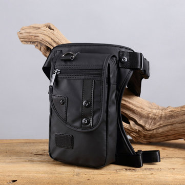 Men Minimalist Fashion Light Weight Nylon Waterproof Leg Bag Waist Bag Crossbody Bag