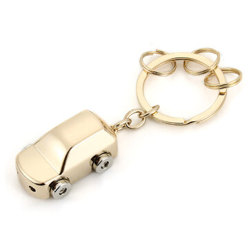 LED Light Mini Car Key Chain Ring Charm Luxury Couple Men Gift