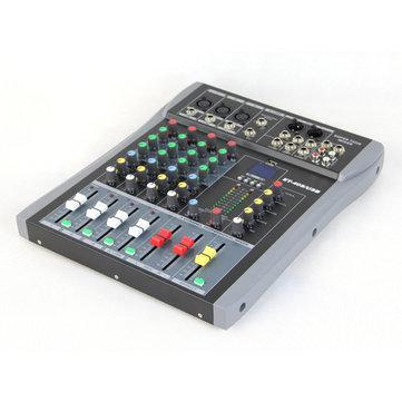 Экзамен ET-40S 4-канальный Профессиональный Stage Live Audio Sound Mixer USB Mixing Console KTV Свадебное