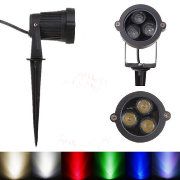 10W LED Flood Spotlight With Rod For Garden Wall Yard IP65 DC 12-24V