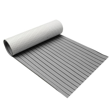 600x2400x5mm Marine Flooring Faux Teak Grey With Black Lines EVA Foam Boat Decking Sheet