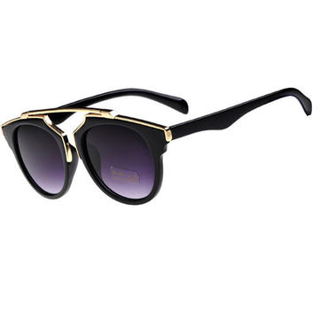 Cat Eye Sun Glassess Fashion UV400 Metal Men Women Glasses