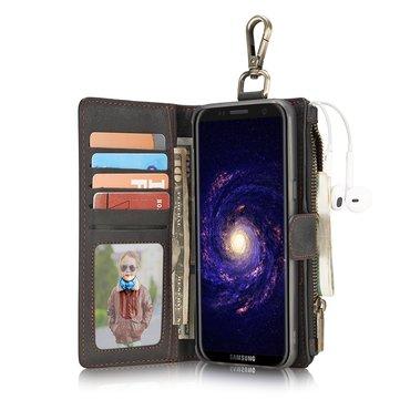 CaseMe PU Leather Multifunctional Detachable Zipper Wallet Hook Case For Samsung Galaxy S8 Plus