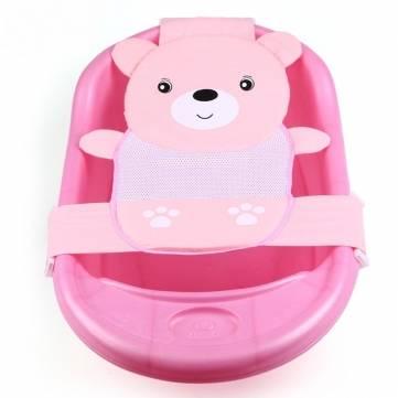 Baby Bear sicurezza vasca da bagno cintura culla amaca traspirante carino maglia sedile regolabile doccia letto