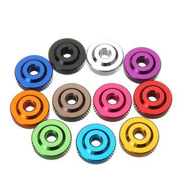 Suleve M6AN2 10 Pcs M6 moleté Thumb Nut w / col vis entretoise rondelle alliage d'aluminium multicolore