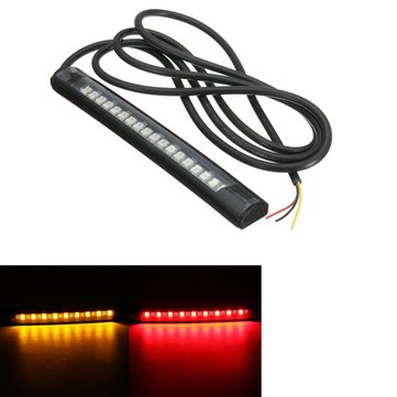 Flexible 18 LED Motorcycle ATV Tail Brake Stop Turn Signal Strip Light