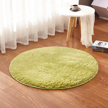 KCASA KC-MP1 60cm Non-Slip Bedroom Floor Mat Fluffy Soft Plush Rug Pure Colour Dining Room Carpet