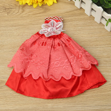 1/12 Doll Wedding Dress For Dollhouse Decoration Random Color