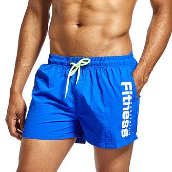 Mens Summer Printing Loose Sport Beach Board Shorts