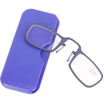 Blue TR90 Light Weight Mini Wallet Pocket Nose Resting Clip Reading Glasses 1.0 1.5 2.0 2.5 3.0 3.5