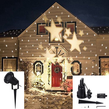 4W LED Waterproof Star Light Landscape Projector Lamp for Home Christmas Decoration 110-240V