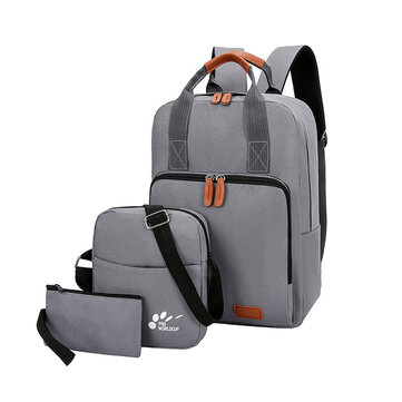 Xmund XD-DY13 3 Pcs 18L Backpack 15.6inch Laptop Bag USB Charging Anti-theft Cross body Bags Camping Travel Handbag Pen Bag