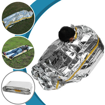 200x100CM Outdoor Emergency Sleeping Bag Camping Survival Rescue Thermal Space Foil Blanket