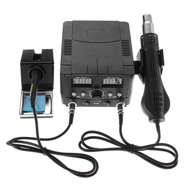 2 In1 Digital Hot Air Rework Soldering Station Soldering Iron Solder Rework Station SMD Desoldering