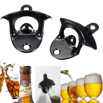 Stainless Steel Beer Bottle Opener Wall Mount Kitchen Bar Wine Glass Cap Open Tool