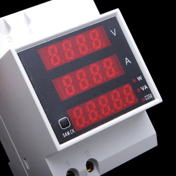 AC Volt Meterr Ammeter Din Rail LED Multifunction Digital Meter